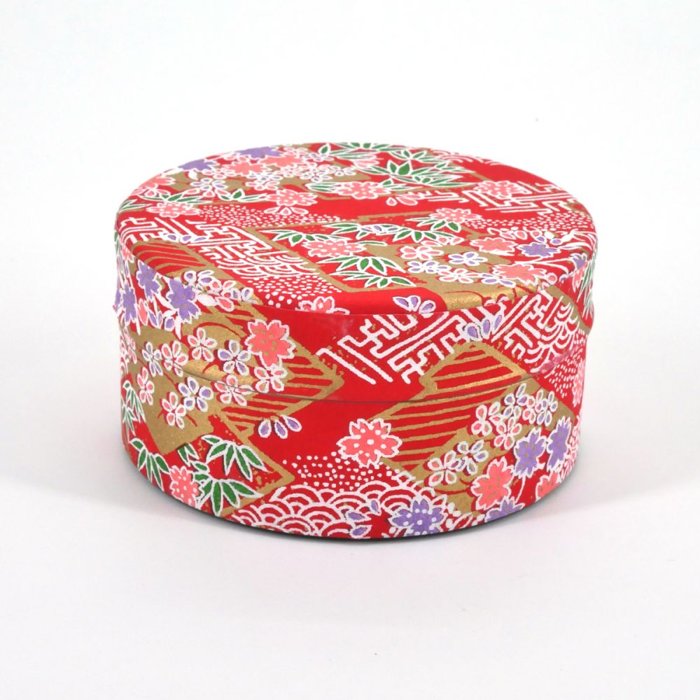 Japanese tea box washi paper flat 40g red SAYAGATA
