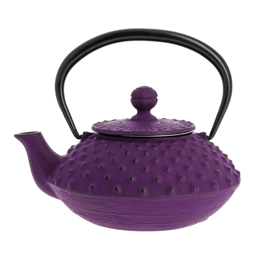 Japanese teapot cast iron, IWACHU KAMBIN 0,32lt, purple