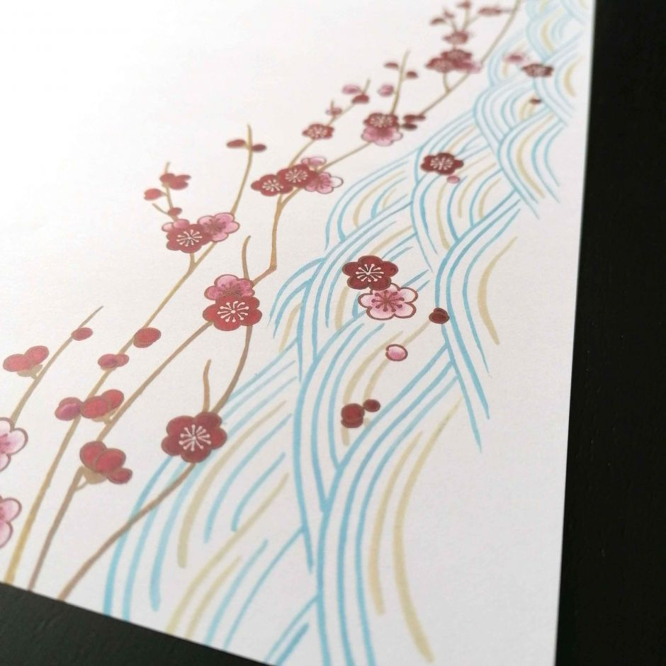 10 placemats in smooth paper - SEIGAIHA