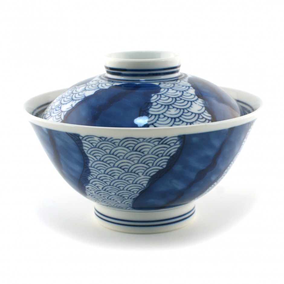 Japanese blue bowl with lid 16M5252873E