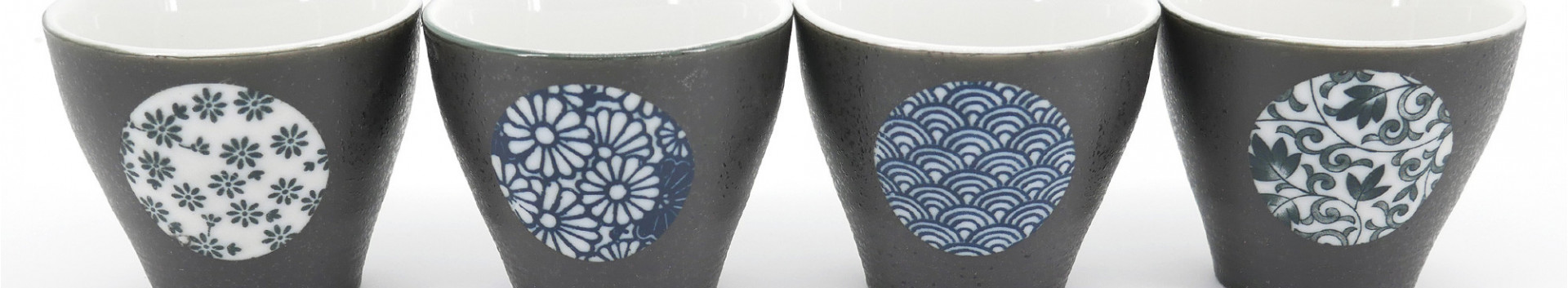 Boxes and sets of Japanese cups